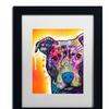 Dean Russo 'Heart U Pit Bull' Matted Black Framed Art