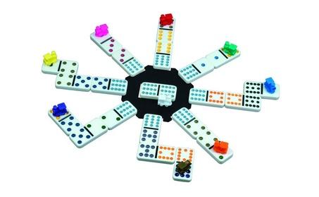 Mexican Train Domino Game Aluminum Case Friends Family Kids Player Fun 7f4d78f6-122e-4fae-b12a-d5784896e6ba