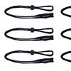 6 PCS Andevan™ Black Sunglasses, Eyeglass Elastic Adjustable Retainers