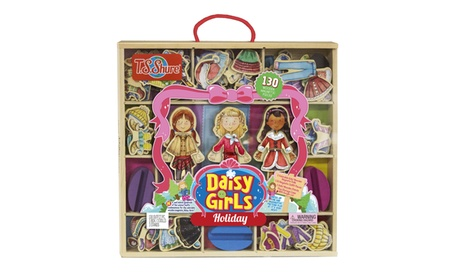 T.S. Shure Daisy Girls Holiday Deluxe Set of 3 Wooden Magnetic Dress-Up Dolls 3c2116ec-b9e5-4498-af18-2d857282c7a4