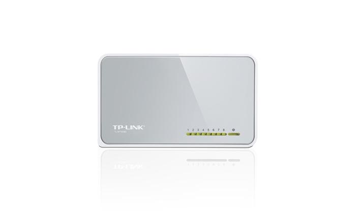TP-Link TL-SF1008D 8 Port Unmanaged 10/100Mbps Desktop Switch | Groupon