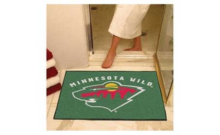 NHL Sports Team Logo Tailgater Indoor Outdoor Area Rug Star Floor Mat 22955b3f-69ef-4246-991e-40d40c57c787
