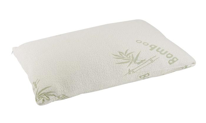 Hotel Comfort Bamboo Covered Memory Foam Pillow Queen Groupon Best Hotel Comfort Bamboo Covered Memory Foam Pillow