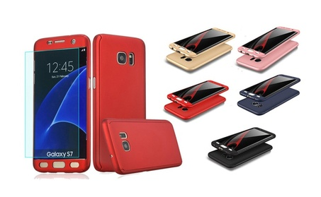 For Samsung Galaxy S7 360° Shockproof Ultra Thin Full Hard Case Cover 3a2cf70a-9f9d-4b37-a473-876e5927a806