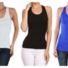 Super Stretch Rib Racerback Tank Top 3-Pack