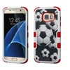 Insten Soccer Ball Collage Hybrid Hard Case For Samsung Galaxy S7 Edge