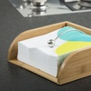 Bamboo Napkin Holder with Stainless Steel Guide