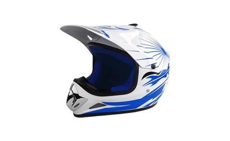 RS Helmets RS-8696-WhiteBlue-YL Off Road Motocross Motorcycle Helmet 8ae07a6a-e801-40e6-b138-321e0dd7767e