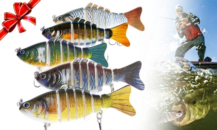 Fishing Lures for Bass Slow Sinking with Trout Segmented Multi Jointed Tackle