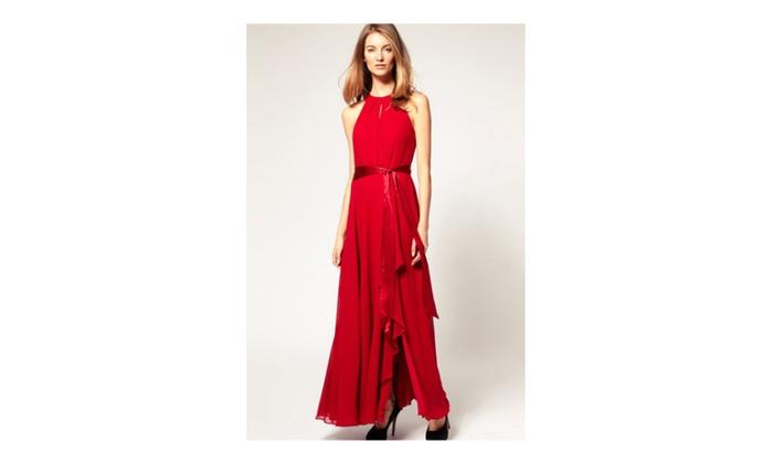 cc645a4b3eb Unomatch Women Strapless Binding Waist Plus Size Dress - UWD285 ...