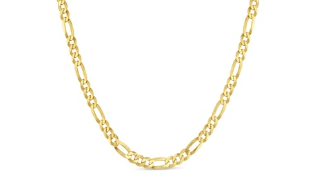 Gold Plated Sterling Silver 100 Gauge Figaro Chain 7d694881-e498-4fa4-8172-1379534ee514