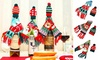 2 Pack Christmas Wine Bottle Cover Knitted Scarf Hat Tableware Xmas Decor
