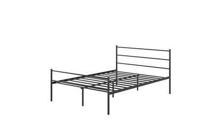 Costway Black Full Size Metal Bed Frame Platform Headboard 10 Legs Bedroom