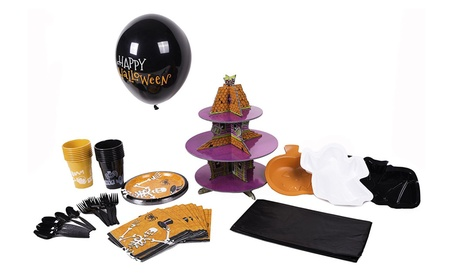 Throw an amazing Halloween party with this 86-pc party pack (16-place) 56d604cc-7417-4006-a0b2-f71a27c6f0db