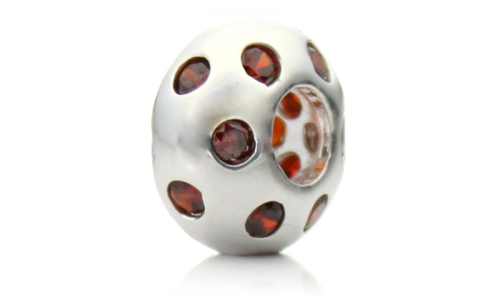 Groupon Goods: Silver 'Disco Night' Red Crystal Pacific Bead