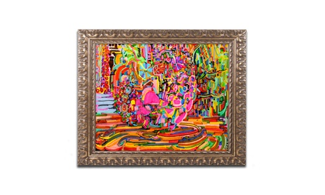 Josh Byer 'Nude Woman As A Bowl Of Fruit' Ornate Framed Art b9090c28-b4b2-4371-b51a-142e11ae444e