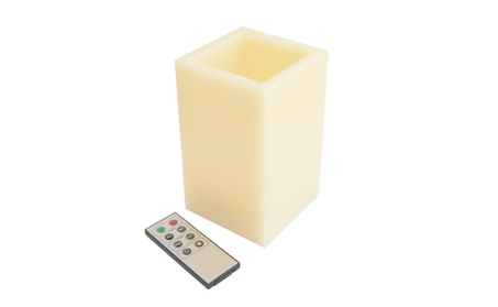 Square Smooth Edge Remote Controlled Flameless Wax Pillar Candle 72c2d5b0-19cc-4abf-9268-94f7870566b1