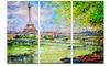Colorful Painting of Eiffel - Landscape Glossy Aluminium Art artwork