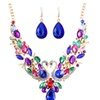 Costume Colorful Swan Maxi Statement Necklace for Women