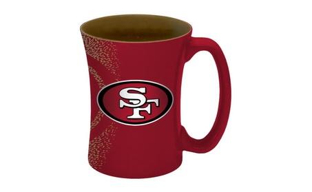 San Francisco 49ers Coffee Mug - 14 oz Mocha 262f7055-f06a-433a-9b69-bc4232b78d1e