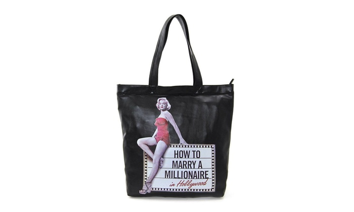 Marilyn Monroe Vintage Dual Carrying Strap Tote Bag Purse