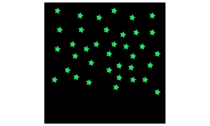 Night Sky Stars Ceiling Kids Bedroom Stickers Glow Dark 100 Pieces 1