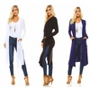 Isaac Liev Extra Long Flyaway Cardigan With Pockets & Slits (Select Sizes)