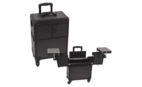 Sunrise E6304DMAB All Black Diamond Rolling Beauty Case 54f7e95d-5efc-4475-8dbb-720ad2752f89