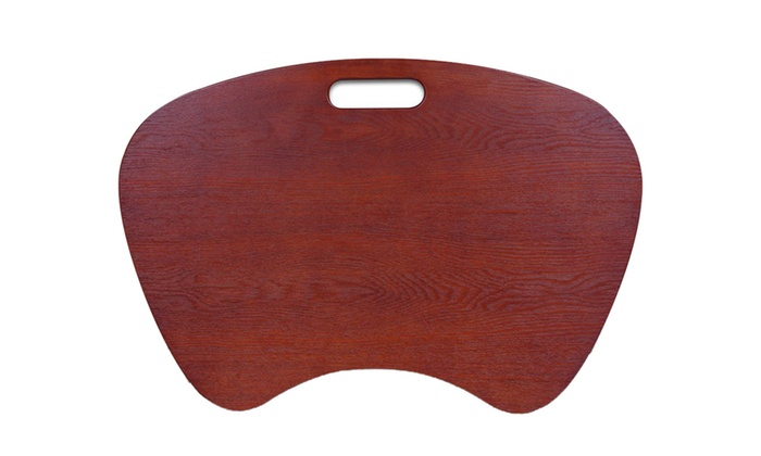 Offex Laptop Lap Desk Cherry Wood Veneer Finish