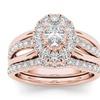 14k Rose Gold 1ct TDW Diamond Oval Shape Bridal Ring