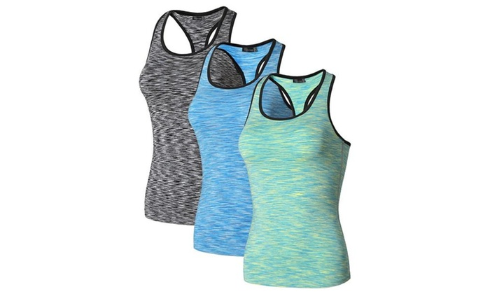 Women's 3 Packs Quick Dry Compression Vests