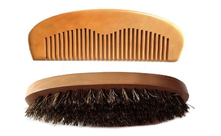 Magik Boar Hair Bristle Beard Mustache Brush Military Hard Wood Handle 193c6b14-4ade-425a-a1ba-0182b4048378