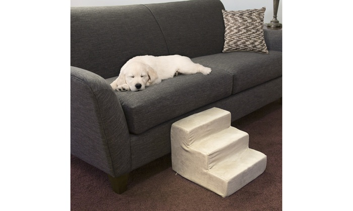 High Density Foam Pet Stairs With Removable Cover: High Density Foam Pet  Stairs ...