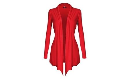 Women's Open - Front Long Sleeve Knit Cardigan 24045802-effd-46ce-92dd-e1e6ebe6edb9