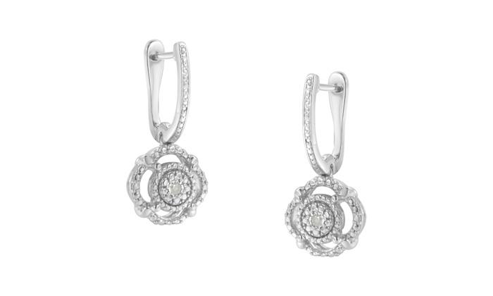 e7e5f85c425 Sterling Silver 1/20ct TDW Diamond Dangle Earrings (I-J,I3-Promo ...