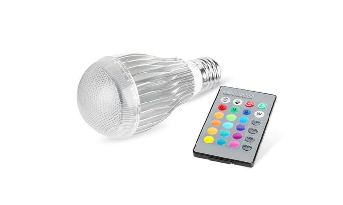E27 9W Colorful LED Light Magic Lamp 85-265V with IR Remote Control