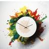 Splatter Clock - Paint-Splatter Style Abstract Wall Clock