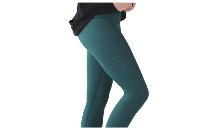 eb209d03b656ba Lululemon Wunder Under Pant III Yoga Pants Deep Green Luon | Groupon