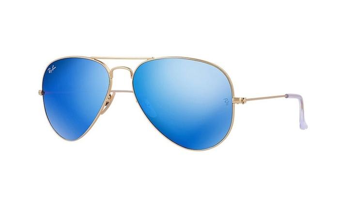 Ray-Ban Blue Flash Lens Aviator Sunglasses 58mm- RB3025 112-17