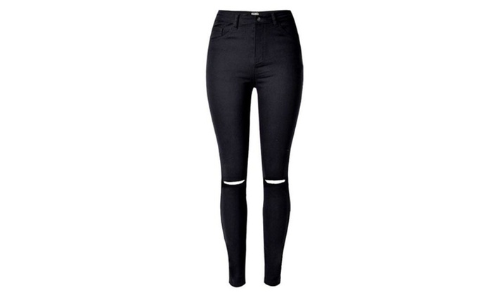 Women's Straight Leg Slim Fit Casual Fashion Long Jeans
