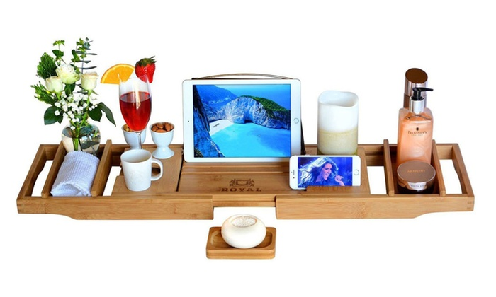Up To 13% Off on Luxury Bathtub Caddy Tray | Groupon Goods