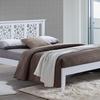 Baxton Studio Celine Contemporary Geometric Pattern Wood Platform Bed