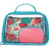 Jacki Design Miss Cherie 3 Pc Cosmetic Bag Set - Blue