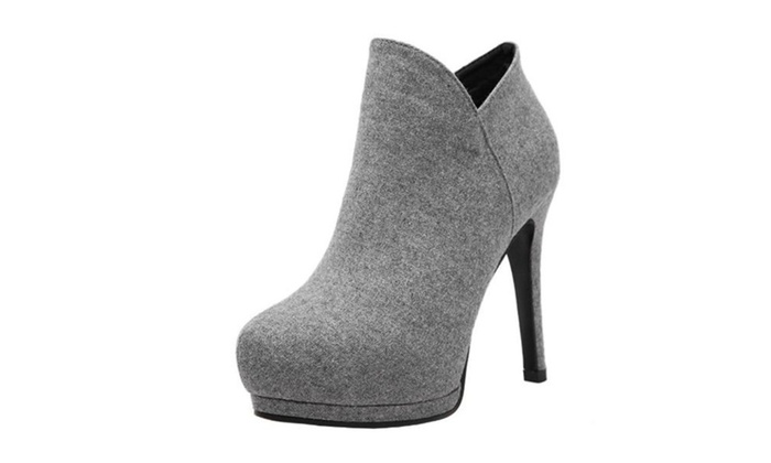 Women's Simple Pointed Toe Marten Boots