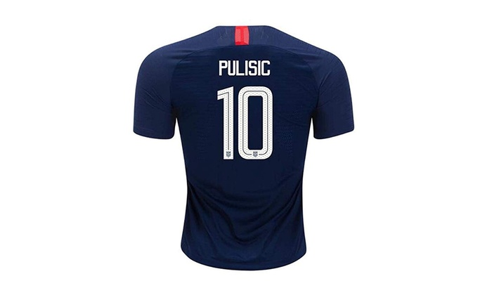 sale retailer 50092 efd64 Hsclxz Pulisic #10 USA Men's Away 18/19 Soccer Jersey Color Blue
