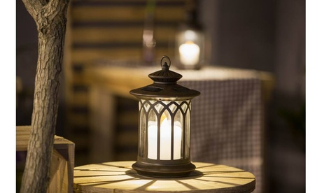 Round Lantern with Candle Solar Light eb6d377d-6bf1-452b-8e47-83a64a8d4167