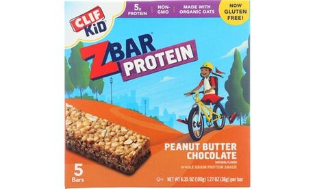 CLIF KID ORGANIC ZBAR PROTEIN BAR, PEANUT BUTTER CHOCOLATE ( 6 - 5/1.27OZ )