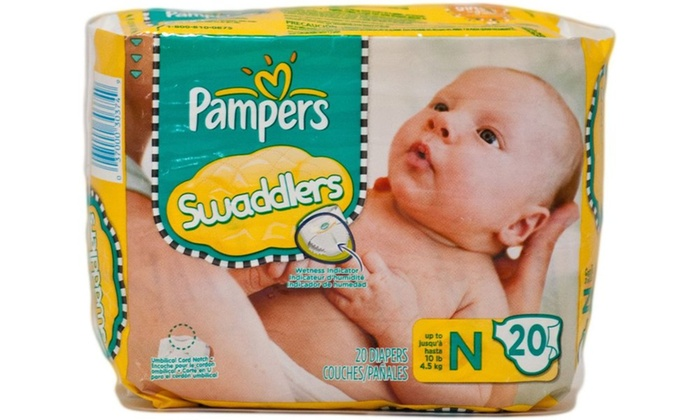 Pg newborn pampers swaddlers 240 count