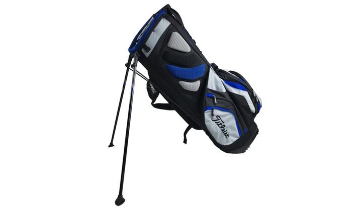 3d068043084 Titleist Lightweight Nylon 14 Way Divided Top 10 Pocket Mens Golf ...