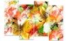 Multicolor Flower Art - Floral Metal Wall Art